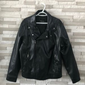 Guess leather jacket Mens